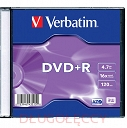 VERBATIM DVD+R 4.7GB 16x slim