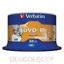 Płyta VERBATIM DVD-R 4.7GB x16 do nadruku op 50 szt.cake box