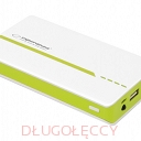 ESPERANZA POWER BANK 11000MAH ATOM LED LIGHT BIAŁO/ZIELONY
