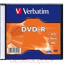 VERBATIM DVD-R 4.7GB 16x slim